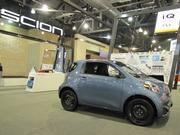 One of the more affordable cars at the auto show is the Scion IQ, which retails for around $16,000.