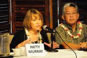 Patty Murray, senior manager of account management and sales for the Hawaii Medical Service Association,  PBN's panel discussion on health care reform at the Plaza Club in Downtown Honolulu on Friday.