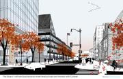 Another Mecanoo rendering shows another view of the exterior