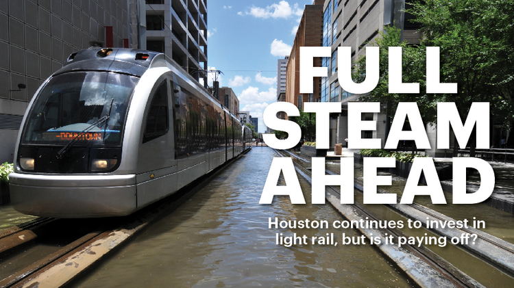 The economic impact of Houston's light rail program remains a matter of mass transit debate a decade after the inaugural train made the first 7.5-mile trip on the Main Street Line.