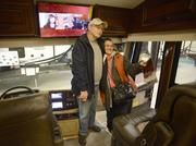 Margaret Vogel and Alan Welch shop for an RV to be their full-time home. They plan to travel throughout the U.S. in their retirement.