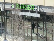 Burger Fi (44 N. 12th St.), which will open Feb. 11, as seen from the Pennsylvania Convention Center.