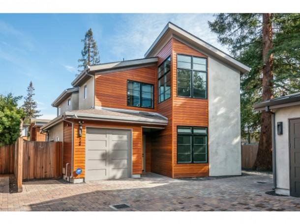 An exterior view of the $2.8 million Palo Alto home just put on the market by Google Ventures Managing Partner Bill Maris. The residence is directly next door to the home of Apple CEO Tim Cook. Click the image for a look inside the well-appointed pad.