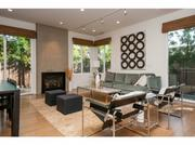 Mod interior furnishings dominate the four-bedroom condo that Maris purchased in 2010.