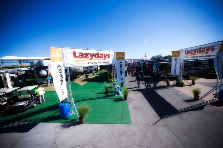 A new three-year deal with the Florida State Fairgrounds Authority will put Tampa-based Lazydays inventory on site for all the events at the fairgrounds including the State Fair that began this week.