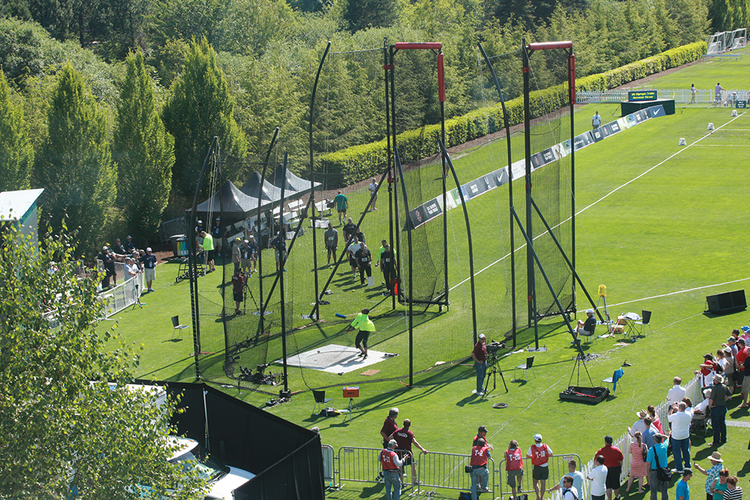 Last summer's Olympic trials for the hammer throw event were held on Nike's campus.