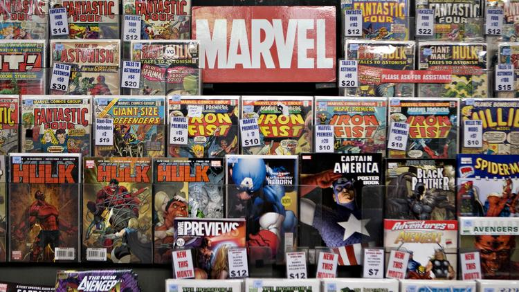 Using data released by Marvel, a pair of Portland startups were able to create an easy to use database mapping out all of Marvel's characters. Photographer: Daniel Acker/Bloomberg