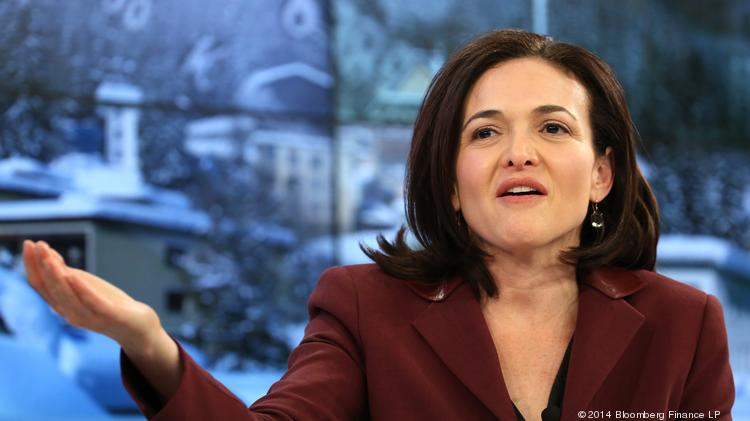 File photo of Sheryl Sandberg, who spoke yesterday at Harvard's Class Day exercises.