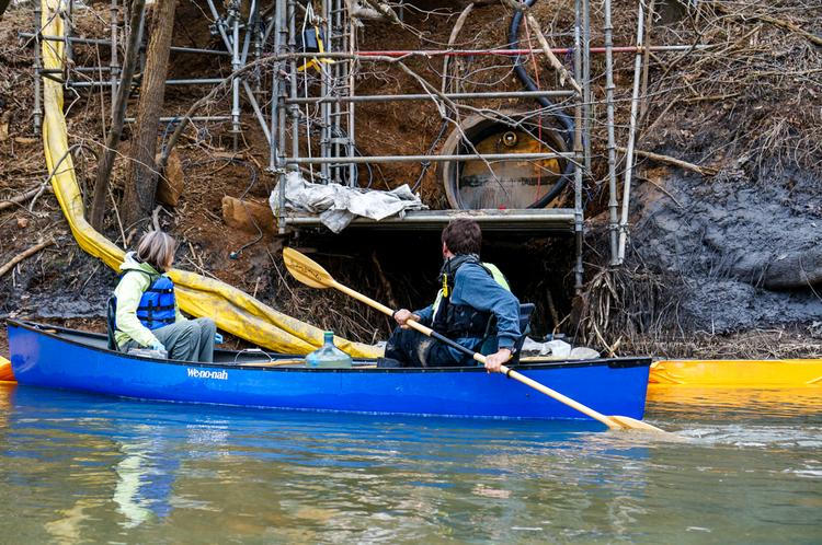 On Saturday, Duke Energy completed a cement plug that sealed the pipe where up to 82,000 tons of coal ash spilled from the shuttered Dan River Steam Station into the river.