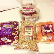 Trader Joe's has a huge selection of speciality snack mixes, dried fruits and edible seeds.