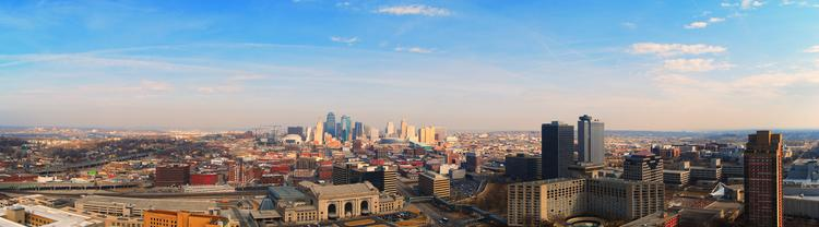 A panoramic view of Kansas City, Mo., where Sedgwick LLP said it will open a back-office operation to save money.