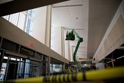 Workers at RDU's Terminal 1 are rapidly finishing construction work in anticipation of the March 2 grand opening.