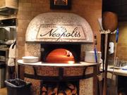 The 7,000-lb. Naples-made wood-burning oven