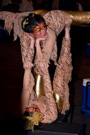 Some of the entertainment at the 2014 Triangle Wine Experience Grand Gala included performance art.