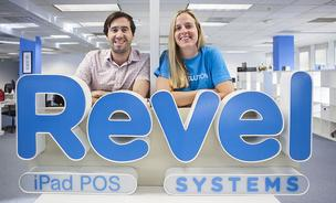 Revel Systems, co-founded by chief executive officer Lisa Falzone, right, and chief technology officer Chris Ciabarra,  is going to be adding Bitcoin to the payment options for merchants using its iPad POS system.