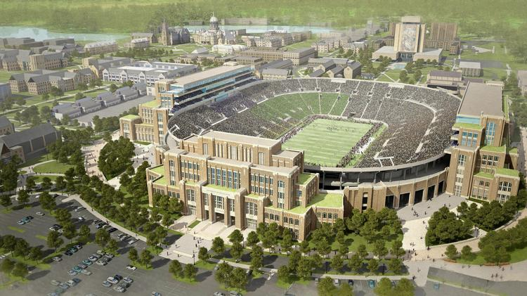 The Campus Crossroads Project, which will integrate academics, student life and athletics, includes construction of more than 750,000 square feet in three new buildings attached to the sides of the university's iconic football stadium, at a projected cost of $400 million.