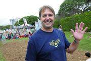 Jon Whittington, president of American Savings Bank Home Loans, volunteering at the Punahou Carnival.