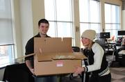 Employees of Gatesman+Dave moving into their SouthSide Works offices.