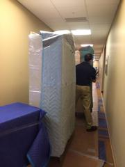 The move out of the old offices on Friday.