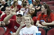 Sam and Gracie Alvey were in the stands just before the celebration started.