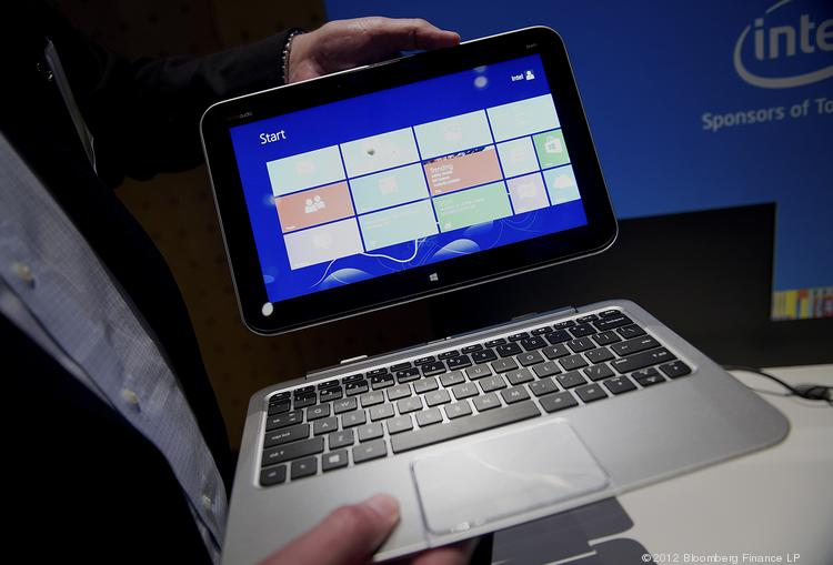 The Dell Inc. Latitude 10 tablet computer is displayed during an event in San Francisco.