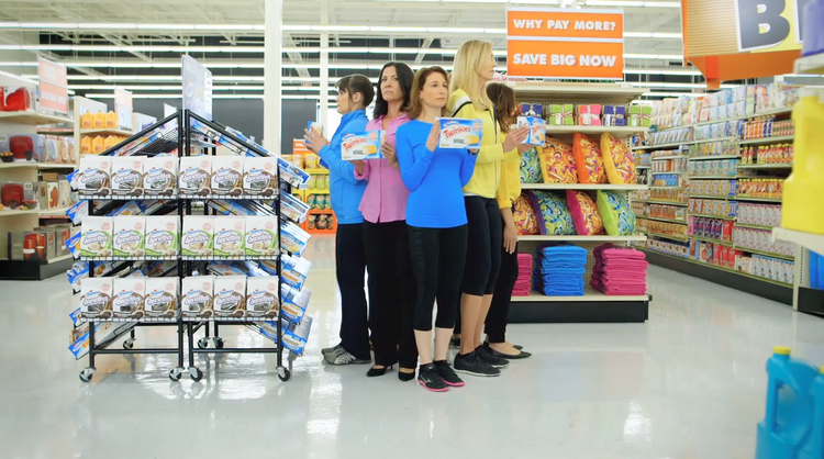 Dancing moms star in a new online ad for Big Lots.