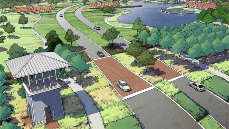 Pomona, a new master-planned community near Highway 288, will include 2,100 single-family homes.