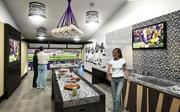 A rendering of a Touchdown suite.