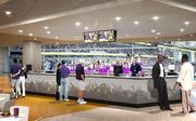 A rendering of a bar inside the Vikings Club.