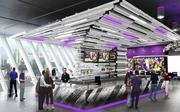 A rendering of the bar at Club Purple. (The website does not say where it will be in the stadium.)