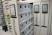 Prescriptions are stored in a secure IntelliCab cabinet that virtually wipes out errors in prescription distribution.