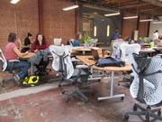 Impact Hub Oakland has desks assembled into pods for independent or co-working.