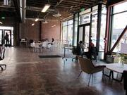 Impact Hub Oakland moved into a building that was once a car show room.