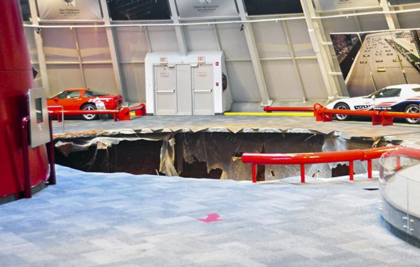 A sinkhole that formed in the middle of the Naional Corvette Museum in Bowling Green swallowed 8 cars.