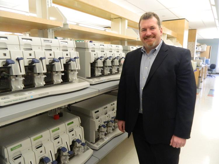 Coriell Life Sciences CEO Scott Megill in the Coriell Institute labs