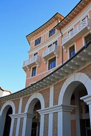 The Gorki Grand was one of two hotels Interstate manages that was built halfway up the mountain, which means guests have to go up to the hotel in gondolas because there is no road access.