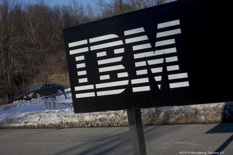The International Business Machines Corp. (IBM) signage is displayed in front of the Thomas J. Watson Research Center, the headquarters of the company's research, in Yorktown Heights, N.Y. Photographer: Scott Eells/Bloomberg