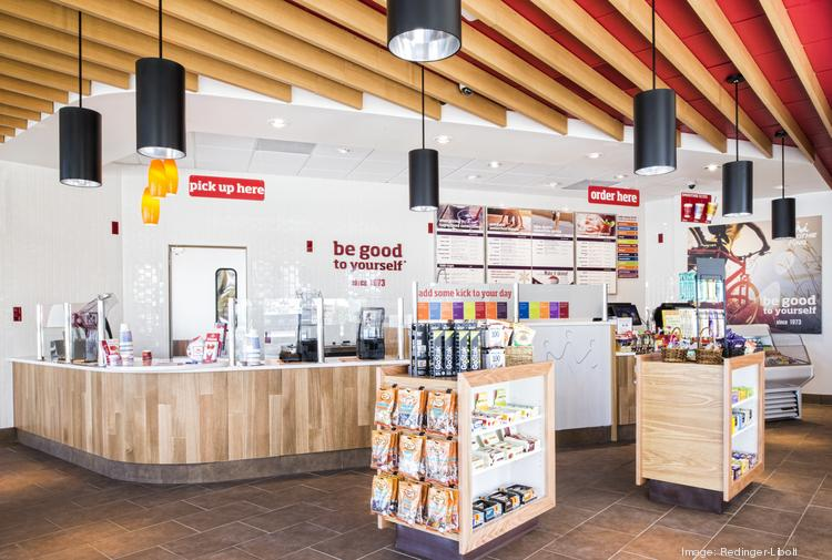 Inside the newly remodeled Smoothie King in Oakland Park.