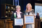 Cindy Harper of LBMC, winner in the Community Supporter category, with Nashville Business Journal Publisher Kate Herman