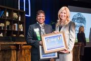 Veronica Floyd, of UPS, winner in the Company Manager category, pictured with Kate Herman