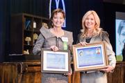 Jane MacLeod of Cheekwood, winner in the Nonprofit Leader category, pictured with Nashville Business Journal's Kate Herman