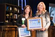 Liz Denning of GammaBlast, winner of the Family Business Category, pictured with Kate Herman