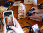 A social media frenzy surrounded the po-boy samples.