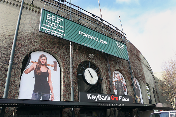 The newly christened Providence Park, home of the Portland Timbers.