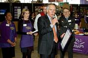 Bank of America's Robert Gallery acknowledges the recognition presented to him for his service to Cradles to Crayons at the Cradles to Crayons President's Day Celebration of Service.