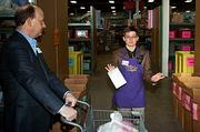 Zachary Spence was one of the group volunteer leaders who gave direction to the 85 local business executives who volunteered at the Cradles to Crayons President's Day Celebration of Service.
