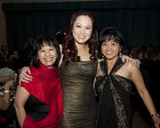 OCA Sacramento advisor Linda Ng, Asian Resources executive director Stephanie Nguyen and Crossings TV account executive Jinky Dolar pose at the Sacramento Hispanic Chamber of Commerce awards.