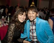 Machiko Arai and Mikuni Sushi owner and husband Taro Arai pose at the Sacramento Hispanic Chamber of Commerce awards.