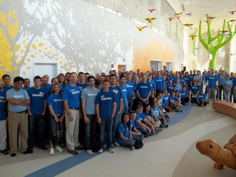 Deloitte Columbus office employees spent Impact Day 2012 helping out at Nationwide Children's Hospital.
