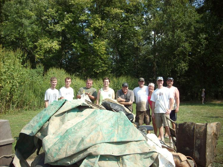 Pepper employees helped clean up the Little Miami River in 2012.